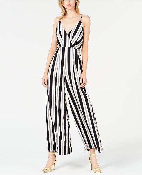 Avec Les Filles Sleeveless Striped Jumpsuit