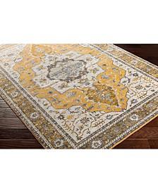 """Surya Aura Silk ASK-2322 Saffron 18"""" Square Swatch"""