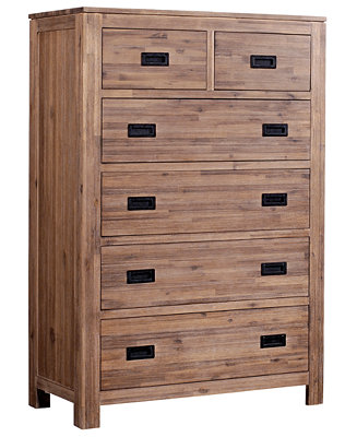 Champagne 6 Drawer Chest Furniture Macy 39 S
