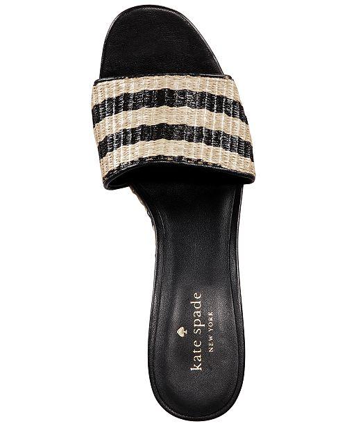 Chaussures New Kate York Spade Linda compenseesCommentaires Naturelnoir Chaussures y80NOPvnmw