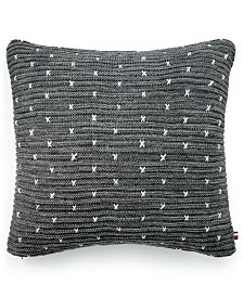 "Tommy Hilfiger Cabral Knit Cotton Reversible 26"" x 26"" European Sham"