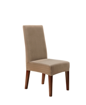 Sure Fit Stretch Pinstripe Short Dining Chair Slipcover