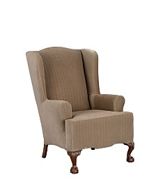 Sure Fit Stretch Pinstripe One Piece Slipcover