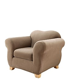 Sure Fit Stretch Pinstripe Two Piece Slipcover