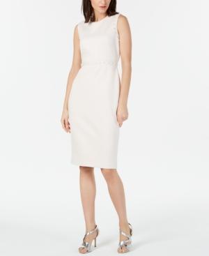 Calvin Klein Dresses IMITATION-PEARL SHEATH DRESS