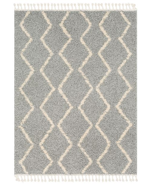"Surya Berber Shag BBE-2304 Taupe 5'3"" x 7'3"" Area Rug"