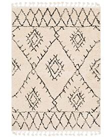"Berber Shag BBE-2305 Charcoal 5'3"" x 7'3"" Area Rug"