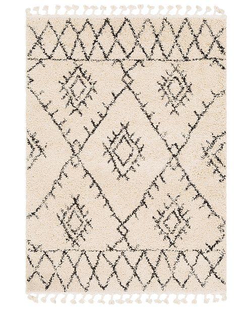 Surya Berber Shag BBE-2305 Charcoal 3' x 5' Area Rug