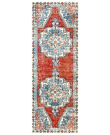 "Bohemian BOM-2300 Bright Red 2'11"" x 7'10"" Runner Area Rug"