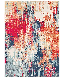 "Surya Bohemian BOM-2309 Bright Red 5'3"" x 7'6"" Area Rug"