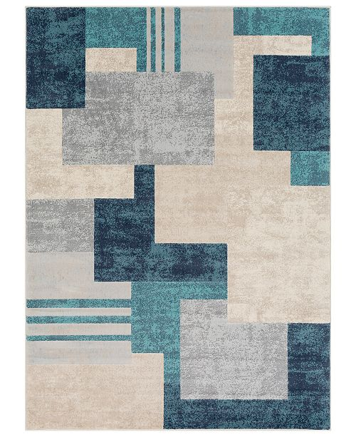 Surya City CIT-2343 Aqua 2' x 3' Area Rug