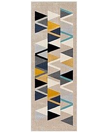"City CIT-2349 Mustard 2'7"" x 7'3"" Runner Area Rug"