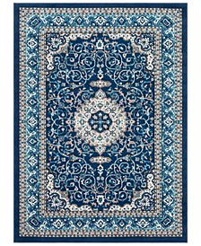 "CLOSEOUT! Clairmont CMT-2309 Navy 3'11"" x 5'7"" Area Rug"
