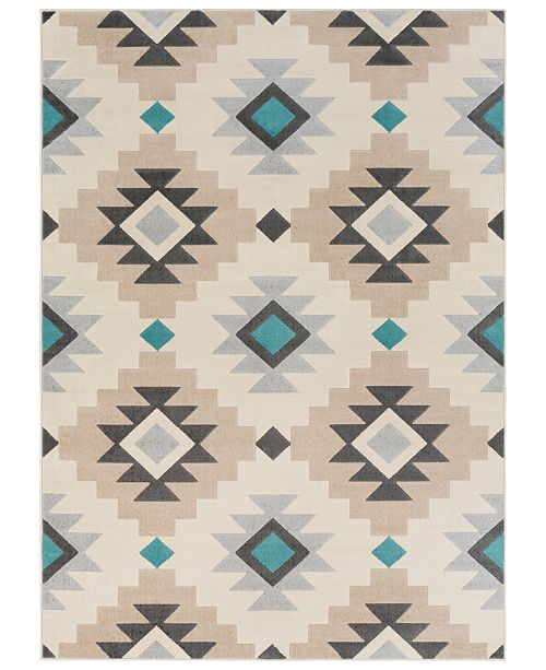 "Surya City CIT-2304 Aqua 9'3"" x 12'3"" Area Rug"