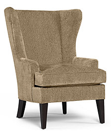 Martha Stewart Collection Saybridge Fabric Accent Wing Chair - Custom Colors