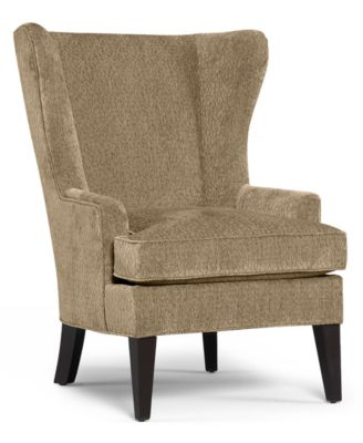 martha stewart collection saybridge fabric accent wing chair custom colors