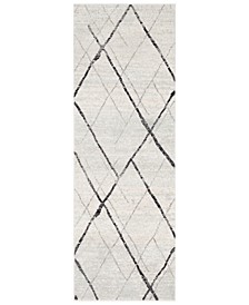 "Elaziz ELZ-2323 Light Gray 2'7"" x 7'6"" Runner Area Rug"