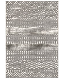 """Harput HAP-1096 Charcoal 3'11"""" x 5'7"""" Area Rug"""