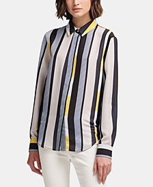 DKNY Printed Button-Up Shirt