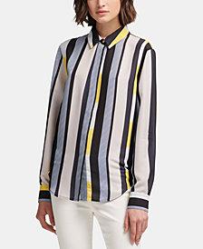 DKNY Printed Button-Up Shirt