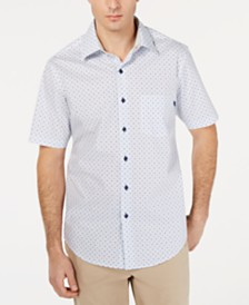 Tasso Elba Men's Mini-Dobby Foulard Shirt, Created for Macy's