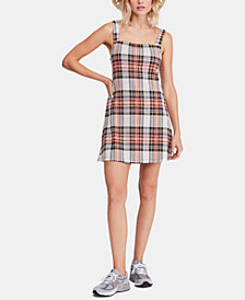 Free People Plaid Spaghetti-Strap Dress