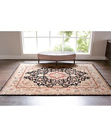 Nourison Rugs, Wool & Silk 2000 2028 Black Collection