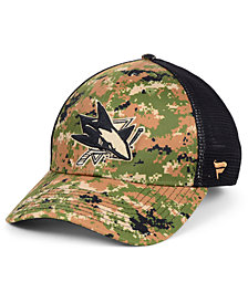 Authentic NHL Headwear San Jose Sharks Military Appreciation Speed Flex Stretch Fitted Cap