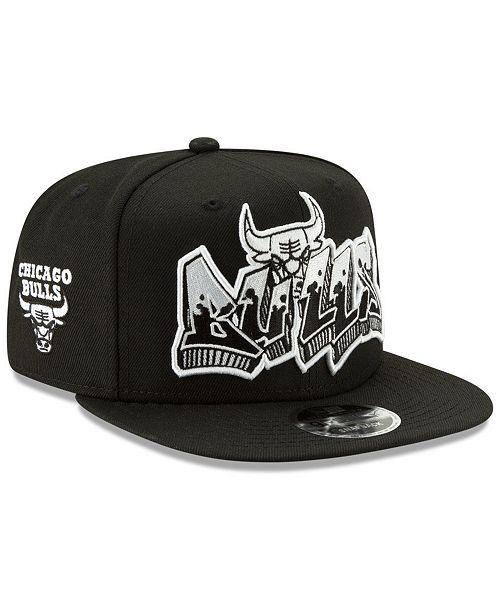 9ef64fb1acb ... New Era Chicago Bulls Retroword Black White 9FIFTY Snapback Cap ...