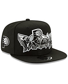 New Era Indiana Pacers Retroword Black White 9FIFTY Snapback Cap