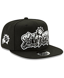New Era Phoenix Suns Retroword Black White 9FIFTY Snapback Cap