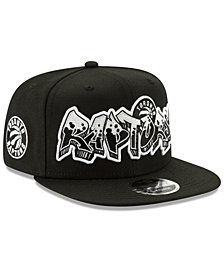 New Era Toronto Raptors Retroword Black White 9FIFTY Snapback Cap