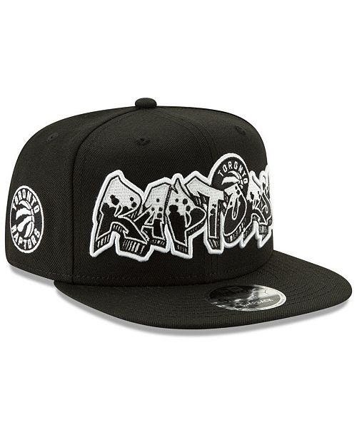 uk availability ce0a6 1bd0b New Era Toronto Raptors Retroword Black White 9FIFTY Snapback Cap ...