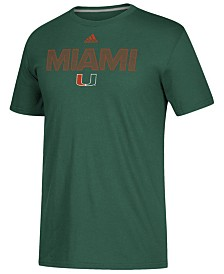 adidas Men's Miami Hurricanes Performance Sideline Logo T-Shirt