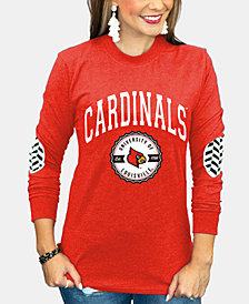 Gameday Couture Women's Louisville Cardinals Elbow Patch Long Sleeve T-Shirt