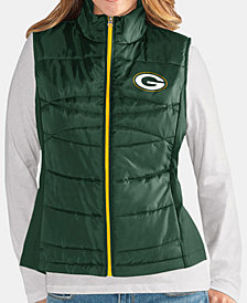 G-III Sports Women's Green Bay Packers Team Poly Vest