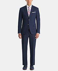 Men's UltraFlex Classic-Fit Navy Linen Suit Separates