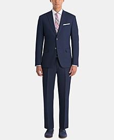 Men's UltraFlex Classic-Fit Navy Linen Suit Separates