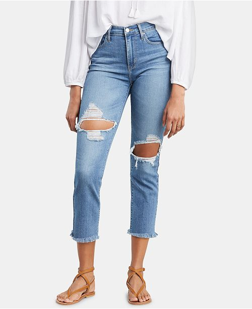 Levi's 724 Straight-Leg Cropped Jeans