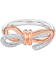 Swarovski Two-Tone Pavé Bow Ring