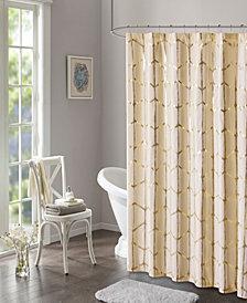 """Intelligent Design Zoey 72"""" x 72"""" Metallic Shower Curtain"""