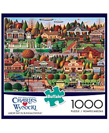 Charles Wysocki - Labor Day in Bungalowville- 1000 Pieces Puzzle