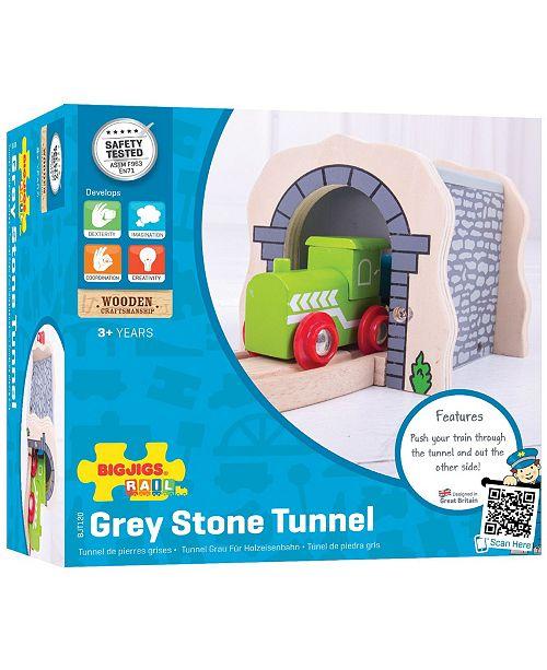 Bigjigs Rail Wooden Grey Stone Tunnel