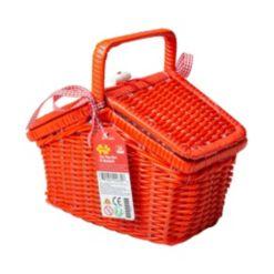 Tin Tea Set and Basket