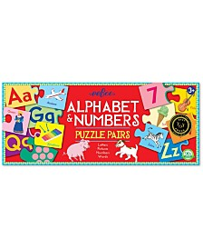 Alphabet and Numbers Puzzle Pairs