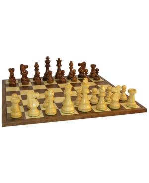 3.5-inch Sheesham French Chess Set with Walnut Board