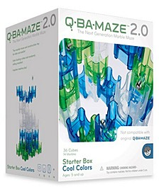 Q-BA-MAZE 2.0 Starter Box - Cool Colors- 50 Piece Puzzle Game