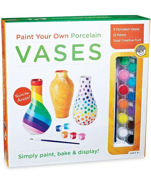 MindWare Paint Your Own Porcelain Vases