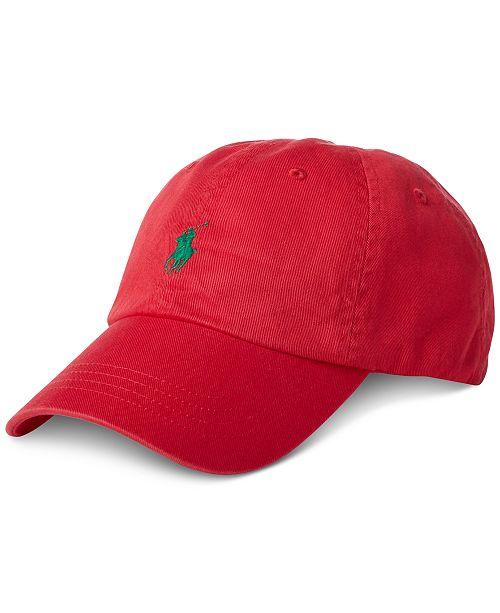 e8e1e8fb57d6e2 Polo Ralph Lauren Men's Classic Chino Cotton Cap; Polo Ralph Lauren Men's  Classic Chino Cotton ...