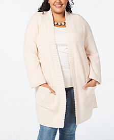 Style & Co Plus Size Open Front Cardigan, Created for Macy's